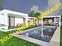 new project in Moraira: modern-style quality villa