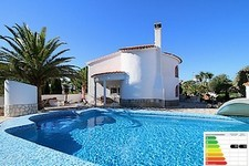 uniquely styled villa in denia with pool and sea view